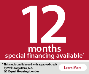 0% Interest For 12 Months with Wells Fargo